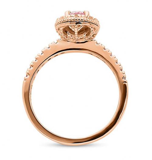 BERRICLE Pink Swarovski Engagement Ring Profile