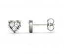 Charles & Colvard Heart Shaped Stud Earrings