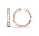 Charles & Colvard Moissanite Hoop Earrings