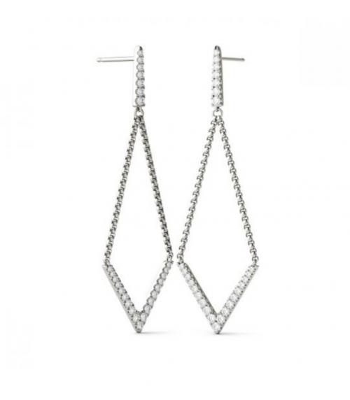 Charles & Colvard Moissanite Drop Earrings 2