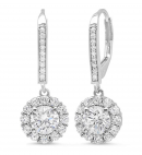 Clara Pucci Solitaire Diamond & Moissanite Earrings