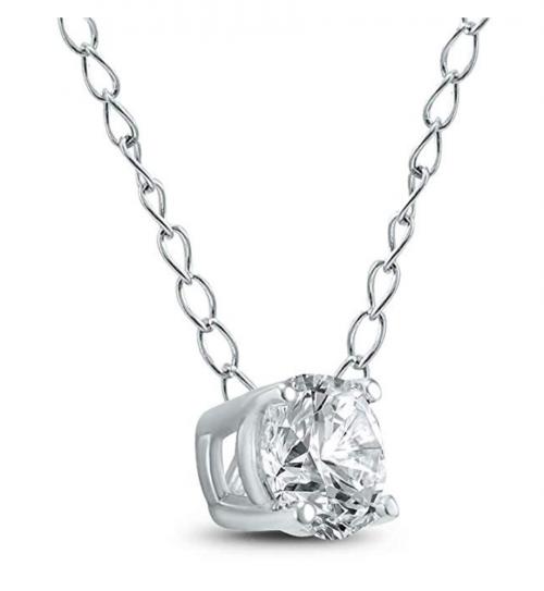 Szul Floating Diamond Necklace Profile