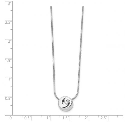 The Black Bow Jewelry Co. Diamond Swirl Necklace Size
