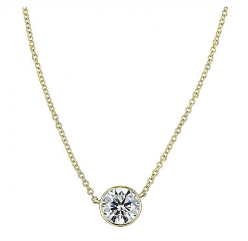 The Diamond Channel Floating Necklace