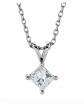 The Black Bow Jewelry Co. Princess Cut Diamond Necklace