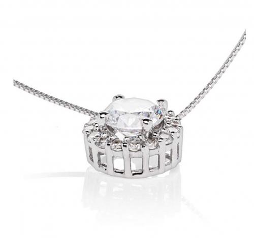 Everyday Elegance Floating Diamond Necklace Detail