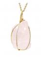 CXD-GEM Raw Rose Quartz Necklace