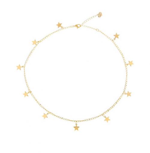 S.J. Jewelry Gold Star Choker