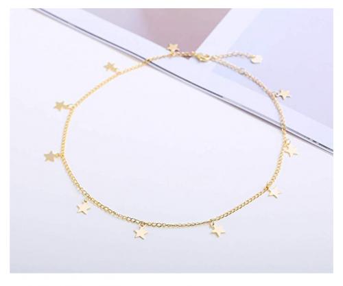 S.J. Jewelry Gold Star Choker on Display