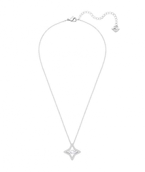 Swarovski Crystal Star Pendant Necklace Full View