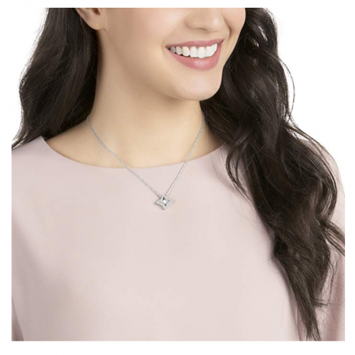 Swarovski Crystal Star Pendant Necklace on Model