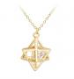 SENFAI 3D Geometric Star Pendant Necklace