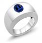 Gem Stone King Men's Solitaire Ring