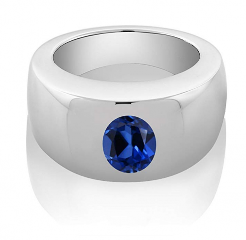 Gem Stone King Men's Solitaire Ring  on Display