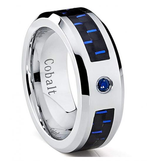 Metal Masters Co. Cobalt Men's Sapphire Ring 2
