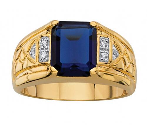 Palm Beach Jewelry Men's 18K Yellow Gold Ring