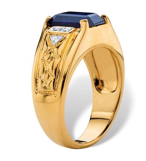 Palm Beach Jewelry Men's 18K Yellow Gold Ring 2