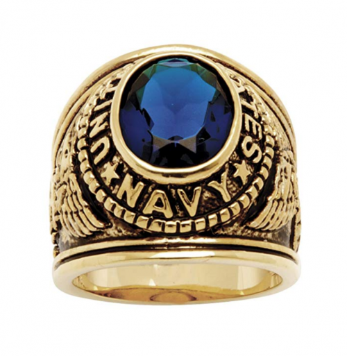 Palm Beach Jewelry Men's Navy Ring