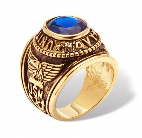 Palm Beach Jewelry Men's Navy Ring Profile