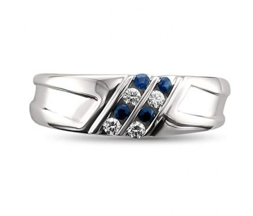 La4ve Diamonds Diamond & Blue Sapphire Ring 2