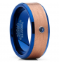 Metal Masters Co. Blue and Rose Tone Tungsten Ring