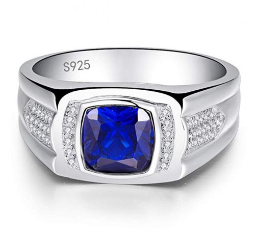 BONLAVIE Created Sapphire Ring Frontal