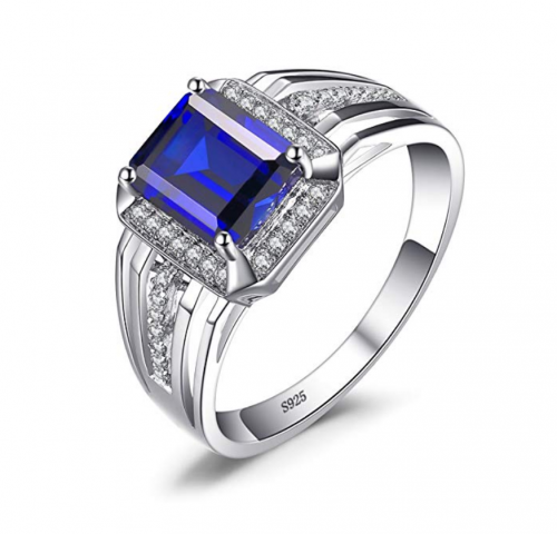 JewelryPalace Created Blue Sapphire Ring