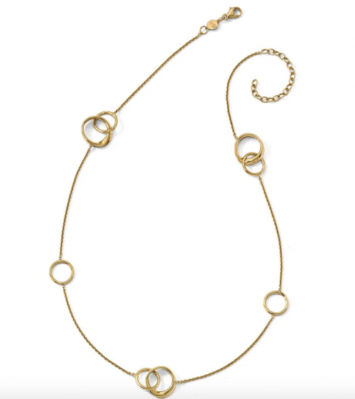 The Black Bow Jewelry Co. Gold Circle Necklace Detail