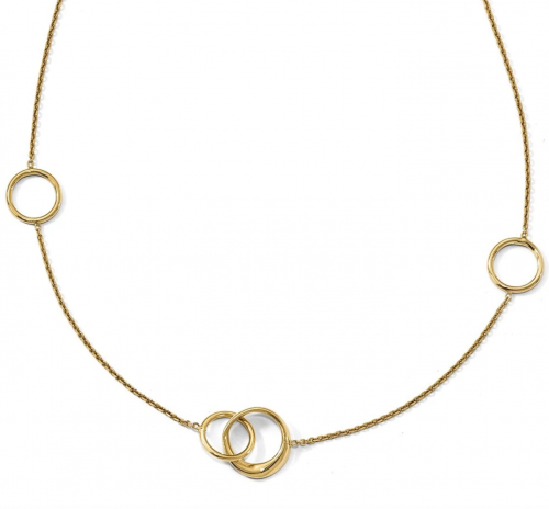 The Black Bow Jewelry Co. Gold Circle Necklace