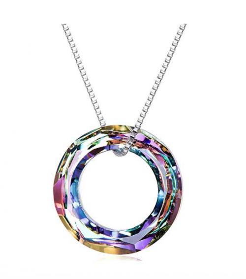 AOBOCO 925 Sterling Silver Circle Necklace