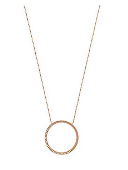 Michael Kors Open Circle Pave Necklace