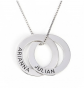 Jeulia Russian Ring Engraved Necklace