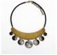 Moon Phase Bib Necklace by Rina Studio Jewelry