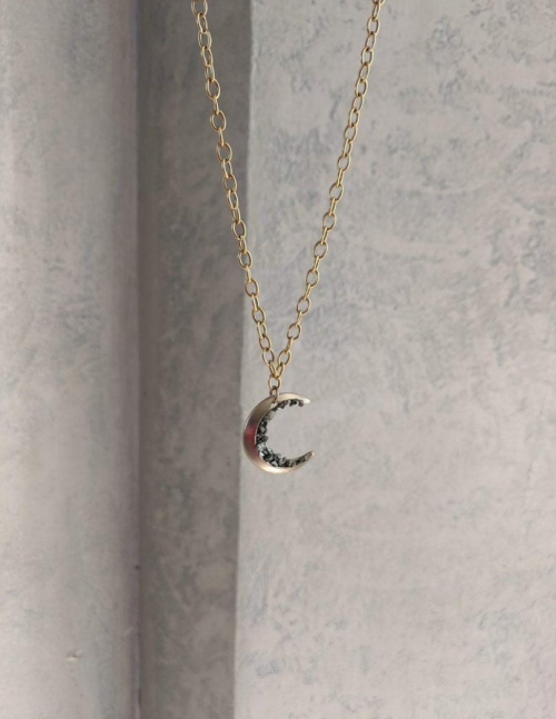 Gold Plated Crescent Moon Necklace by Earth Wind & Wire 2