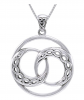 Jewelry Trends Celtic Knot Crescent Moon Necklace
