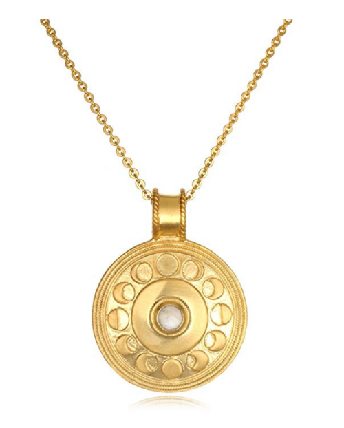 Satya Jewelry Moonstone Moon Phase Necklace Detail