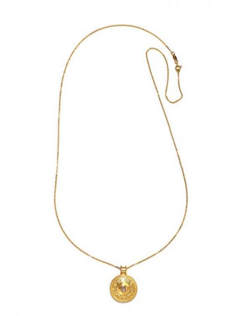 Satya Jewelry Moonstone Moon Phase Necklace