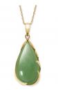Belacqua 14k Gold Natural Jade Necklace