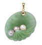 Lux Jade and Pearl Shell Pendant