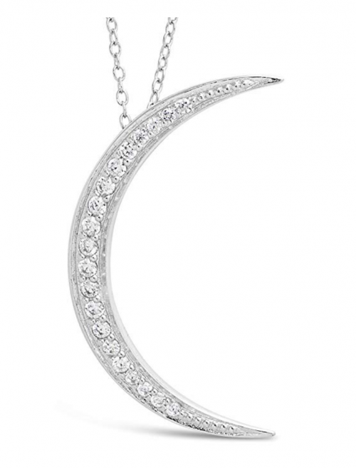 Sterling Forever Moon Phase Necklace Detail