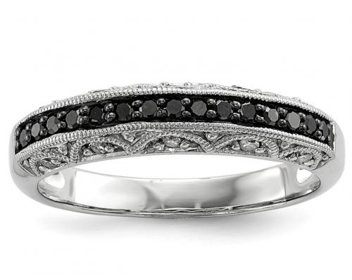 Black Bow Jewelry & Co. Black Diamond Ring