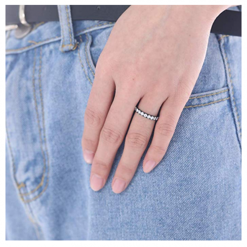 TIGRADE Titanium Black Ring on Hand