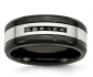 Black Bow Jewelry & Co. Two Tone Stainless Steel Band