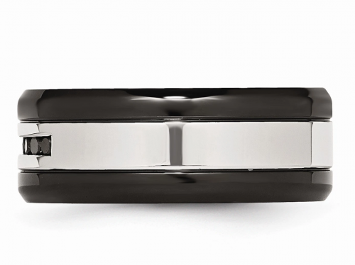 Black Bow Jewelry & Co. Two Tone Stainless Steel Band Profile