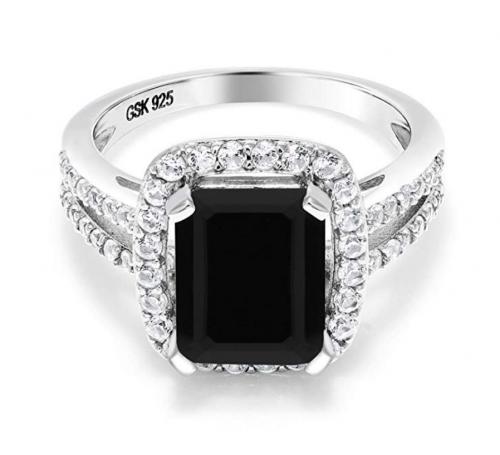 Gem Stone King Black Onyx Ring
