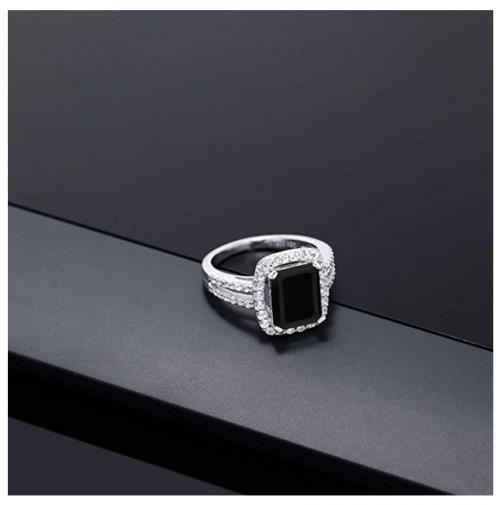 Gem Stone King Black Onyx Ring on Display