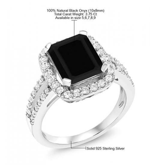 Gem Stone King Black Onyx Ring Specs