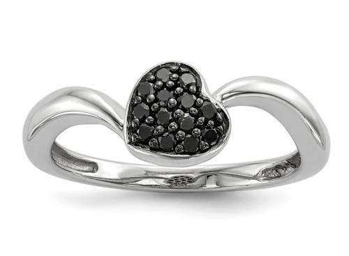 Black Bow Jewelry & Co. Black Diamond Heart Ring