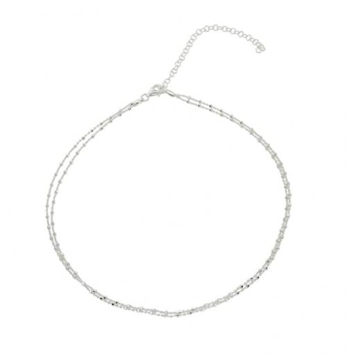 Hoops & Loops Sterling Silver Italian Chain Choker
