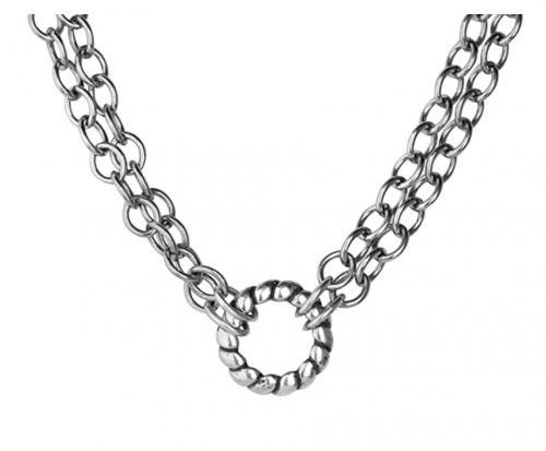 Carolyn Pollack Sterling Silver Chain Double Strand Choker Detail